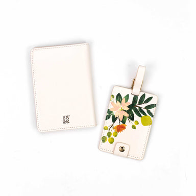 Luggage Tag & Passport Holder, Citrus Floral
