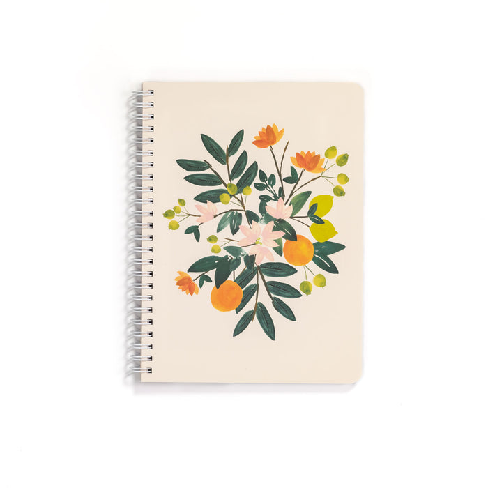 Mini Notebook & Pen Set, Citrus Floral