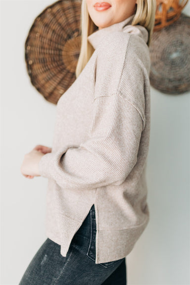 Talk About It Knit Top - Taupe