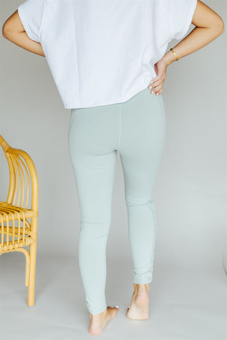 Criss Cross Leggings - Sage