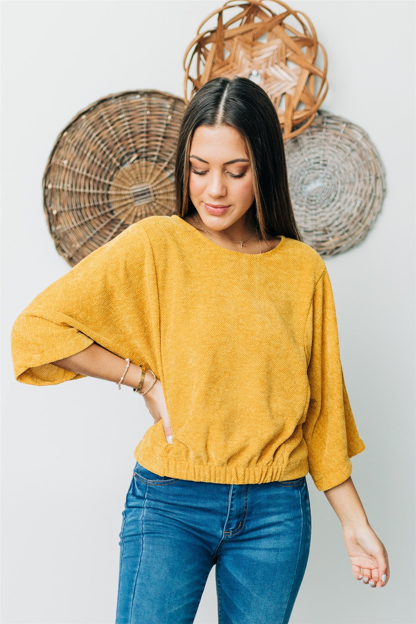 Frame of Mind Top - Mustard