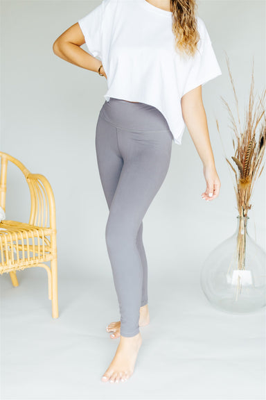 Let's Work It Out Leggings -Titanium