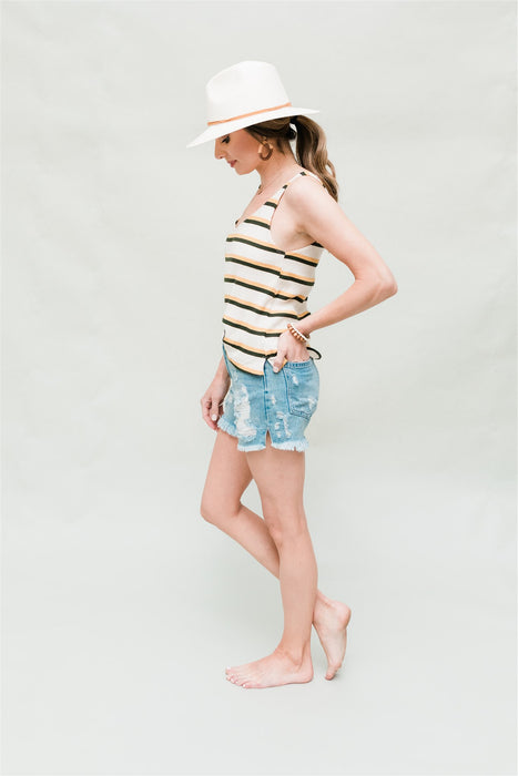 Summer Love Tank - Mustard Multi