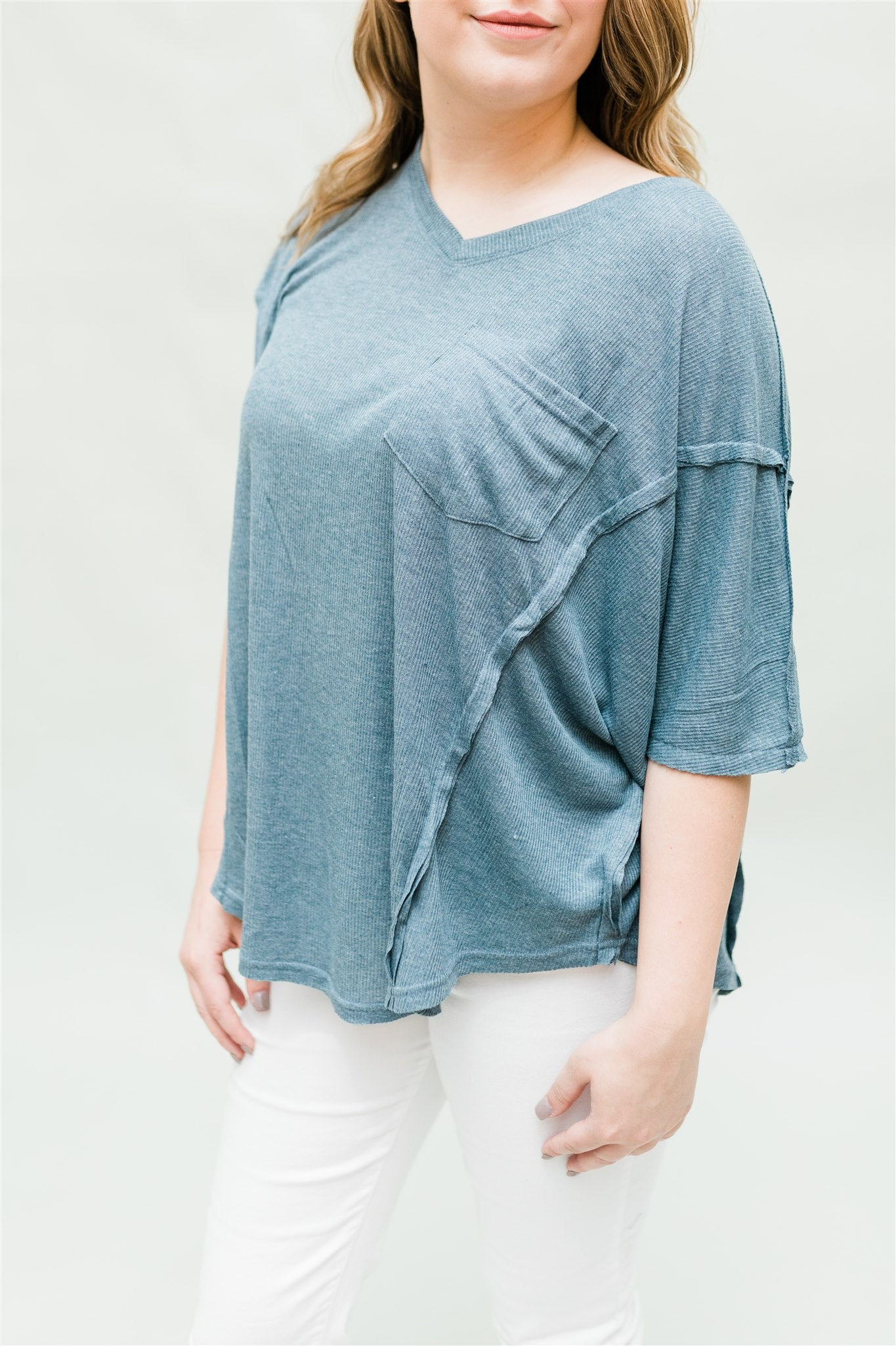 Blue Skies Ahead Tunic - Slate