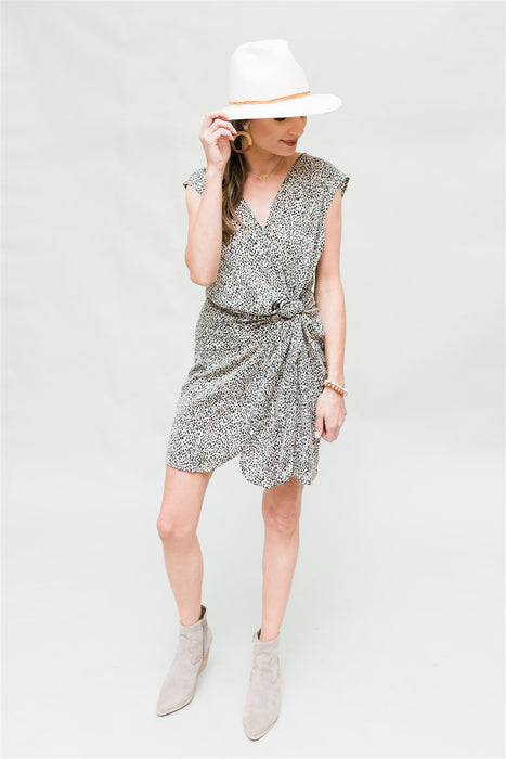 Knot Your Mom's Dress - Taupe & Black
