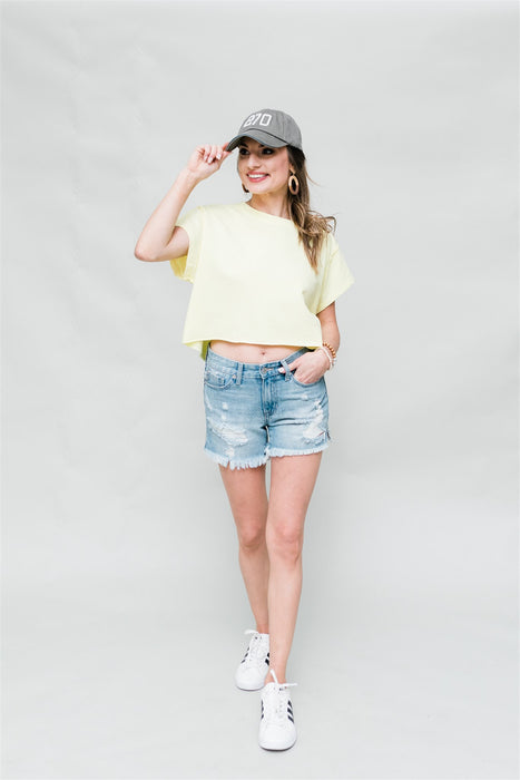 Goal Setter Crop Top - Yellow