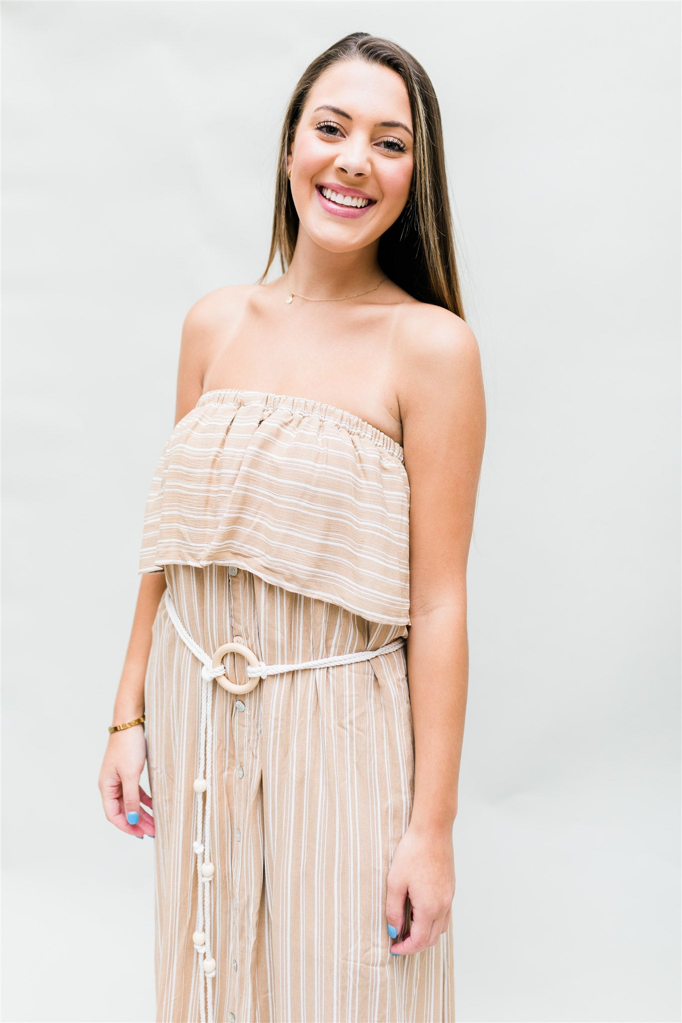 She's A Catch Dress - Beige