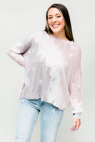 Do Your Thing Sweater - Mauve Tie Dye