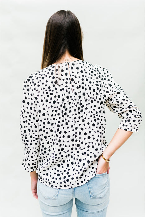 Leave your Footprint Blouse - Ivory