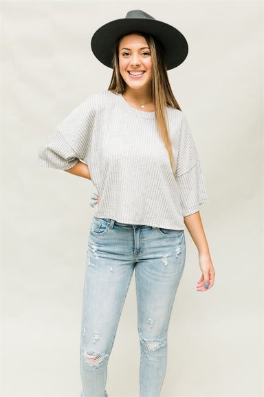 Take a Hike Top - Heather Grey