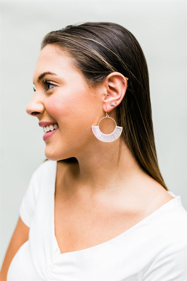 Wrap Around Joy Earrings - White