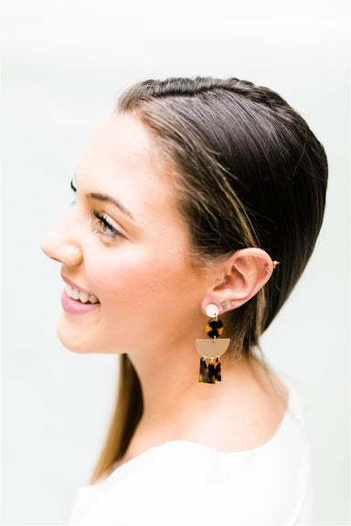 Drop-dead Tortoise Earrings