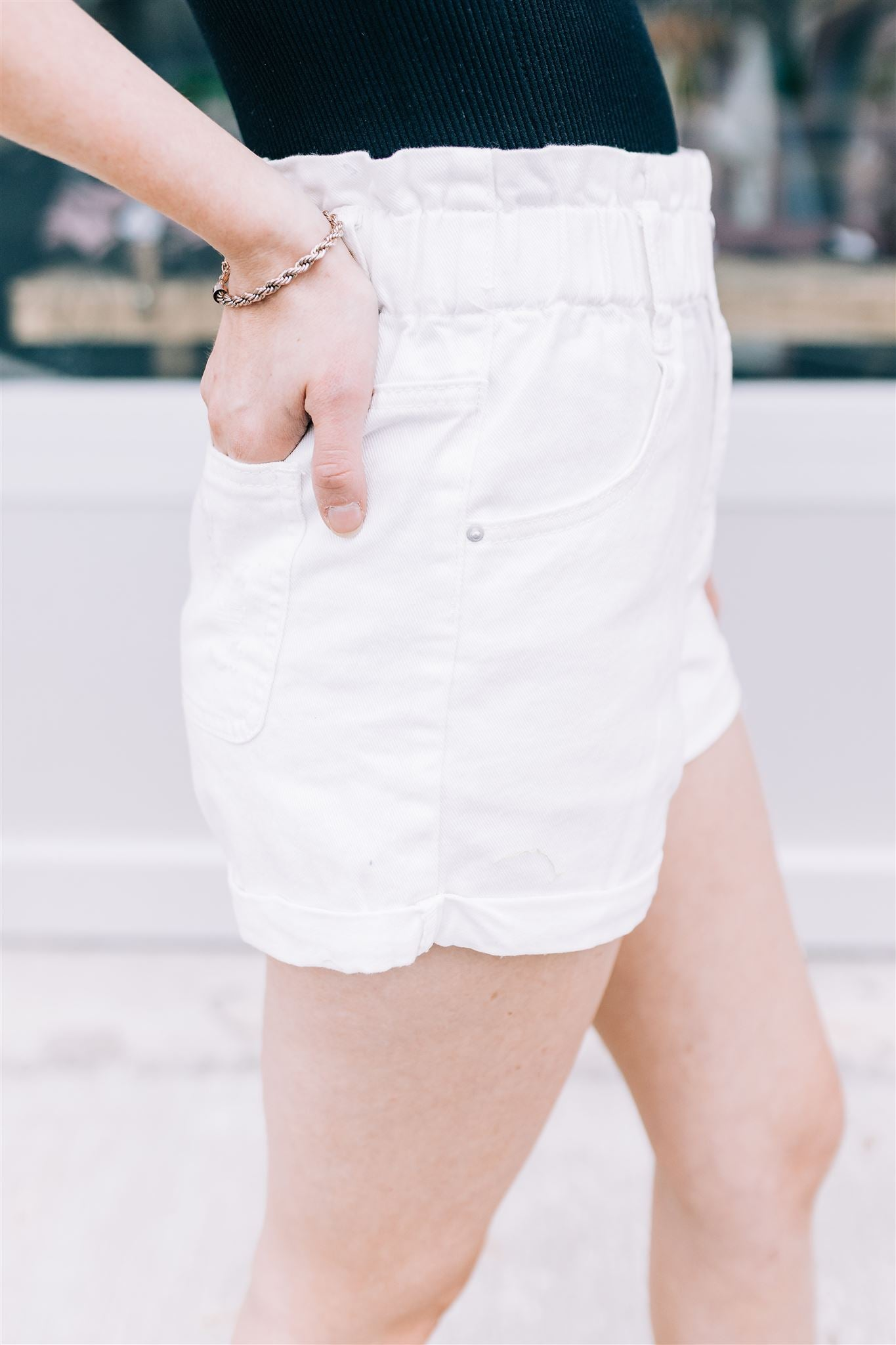 On A Roll Denim Shorts