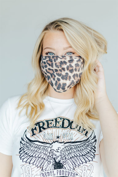 Face Mask - Brown Leopard
