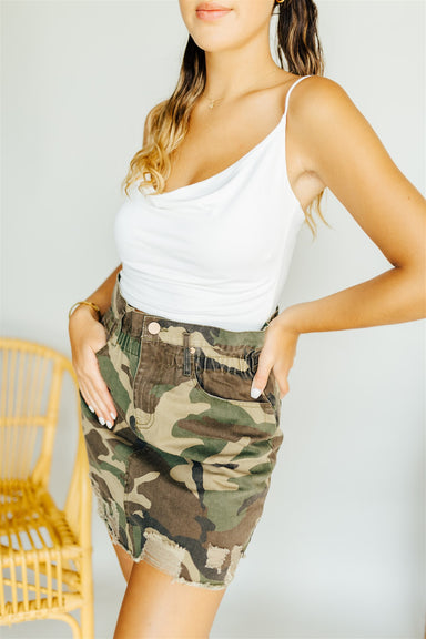 Hollaback Girl Skirt - Camo