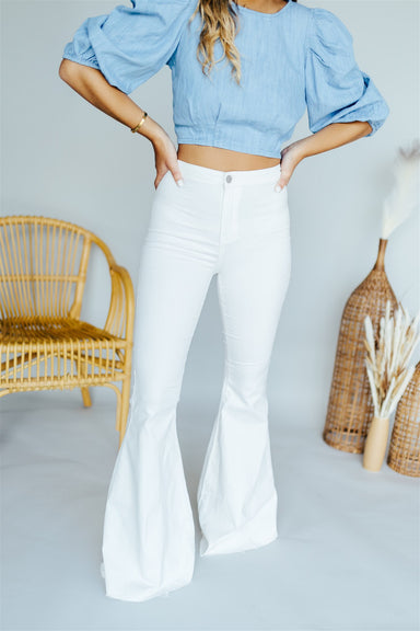 For the Flare Bell Bottoms - White