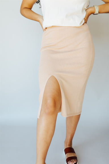 Walkin' After Midnight Skirt - Taupe