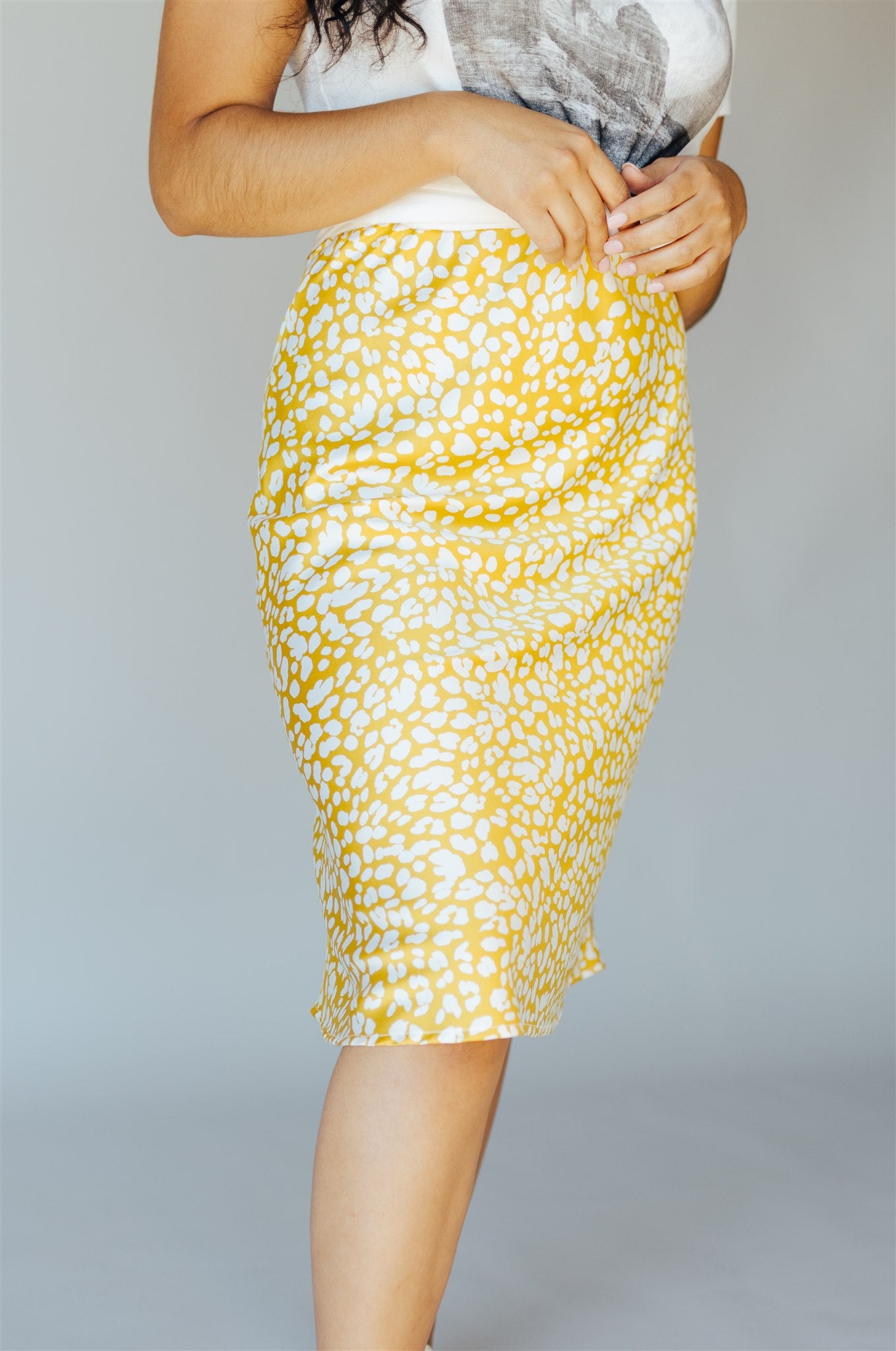 Golden Babe Midi Skirt
