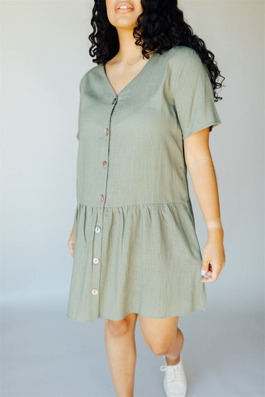 Truth Be Known Dress - Faded Olive