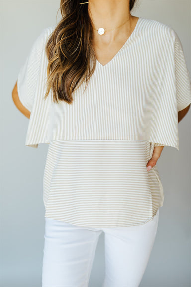 Think Outside The Boxy Top- Taupe