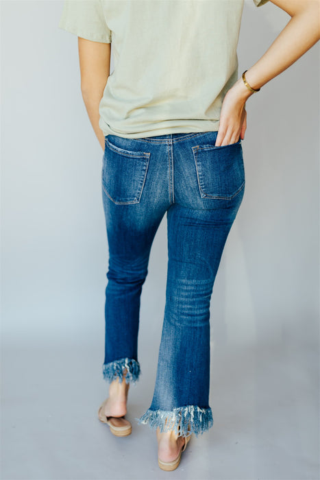 Swept Away Flare Jeans - Dark