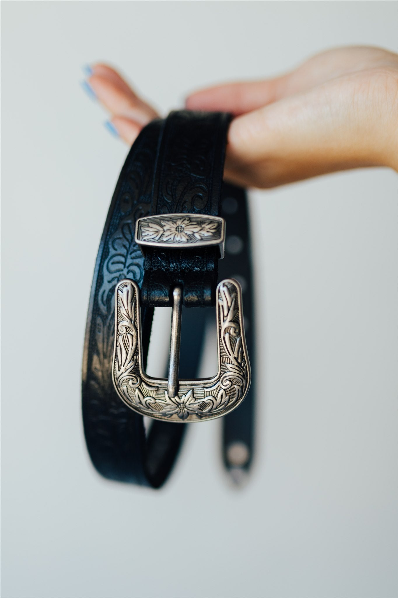 West Stone Western Belt - Black