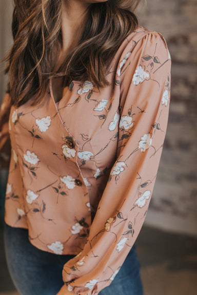 Bloom Wildly Blouse - Rosy Brown