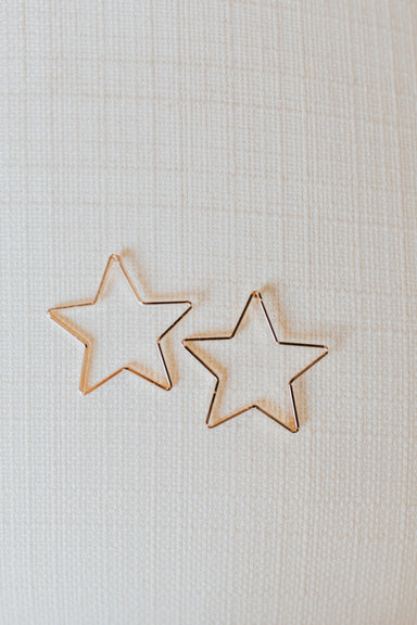 Wish Upon a Star Earrings - Gold