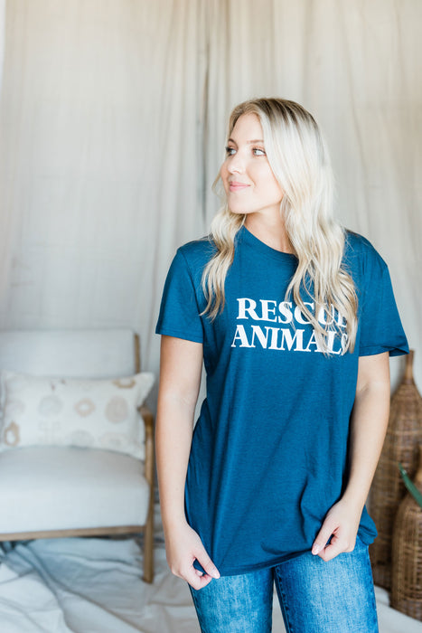 Rescue Animals Tee - Navy