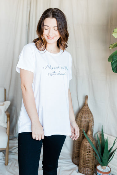 Sisterhood Relaxed Tee - White