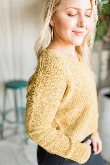 So Far So Good Sweater - Mustard