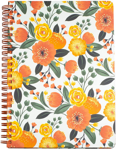 Citrus Floral Hard Cover 160 Page Lined Notebook
