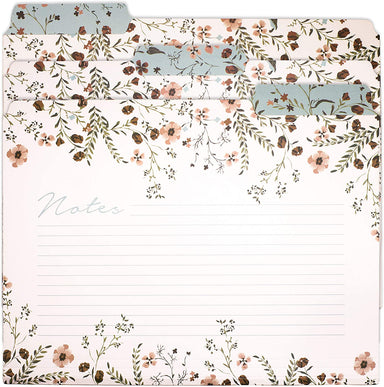 Floral File Folders - Set of 6