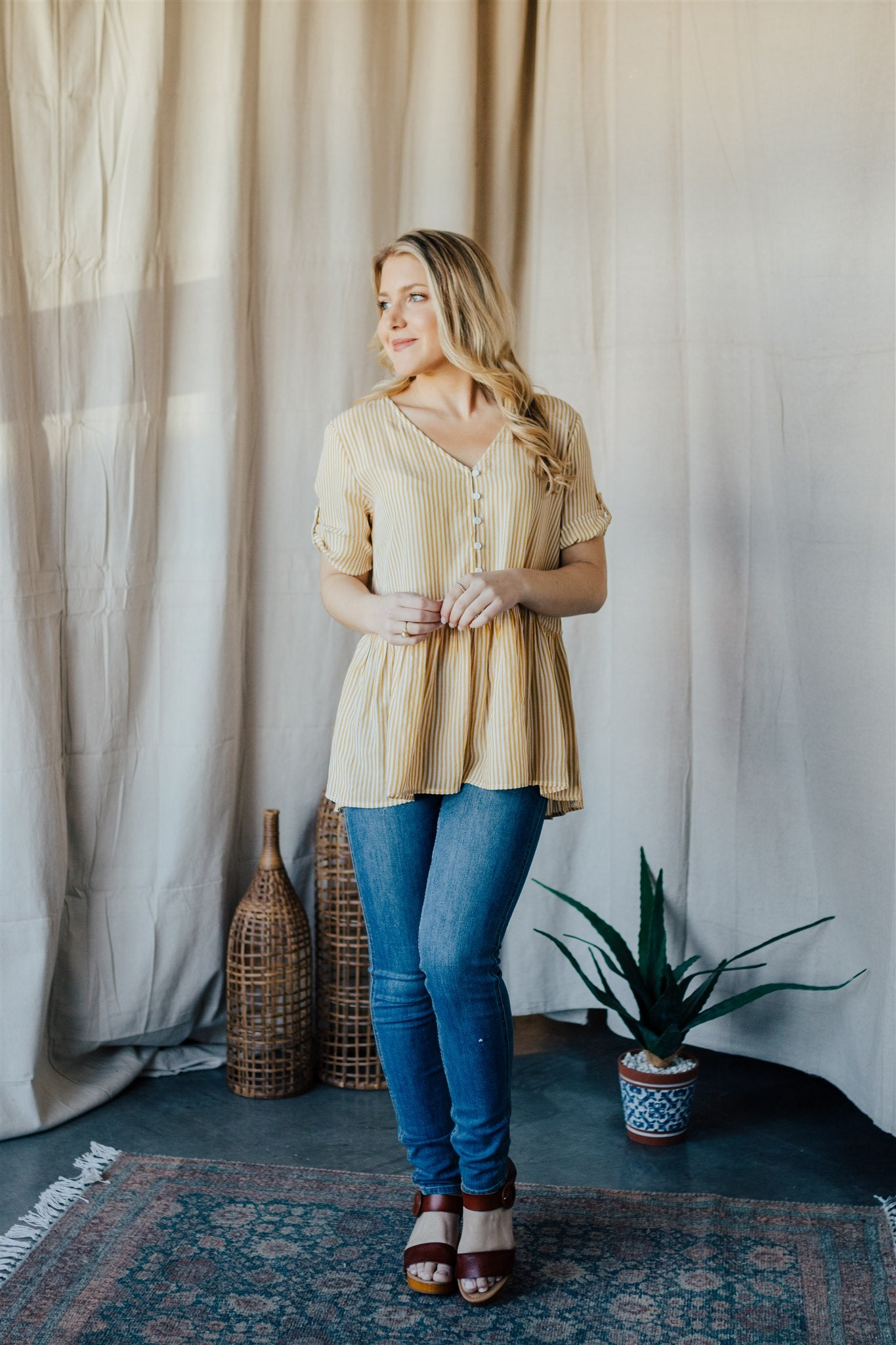 Lazy Days Peplum Shirt