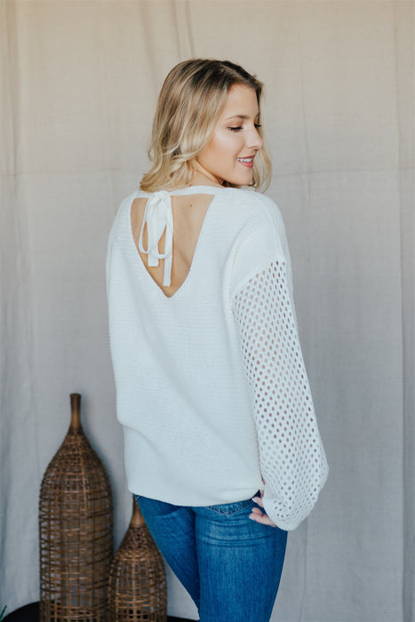 Knit Just Got Good Sweater - Cream