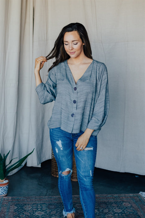 Beyond The Horizon Blouse - Ash
