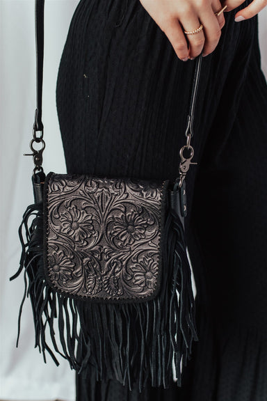 Unfringed Crossbody  - Brown