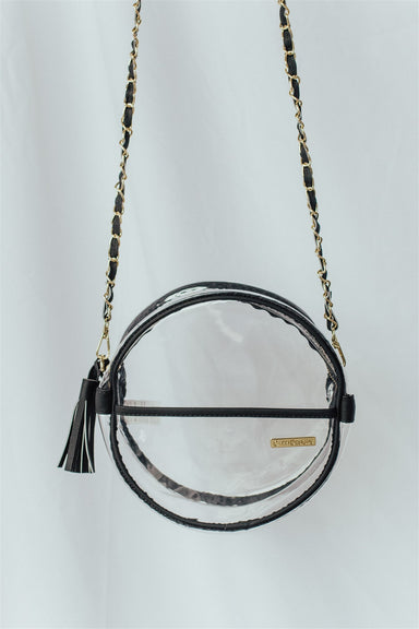 Go Team Crossbody - Clear PVC & Black