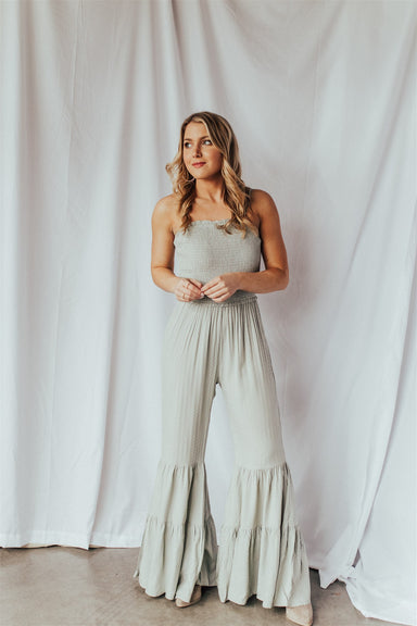 Dancing Queen Jumpsuit - Sage