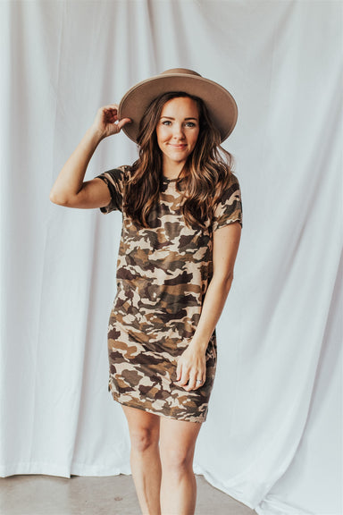 Jessie's Girl Dress - Light Camo