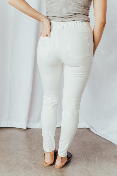 Moto Jeggings - Off White