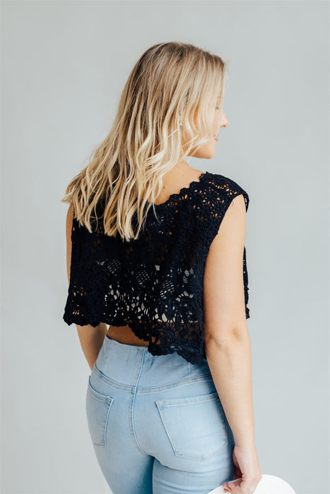 Free Spirit  Crop Top - Black