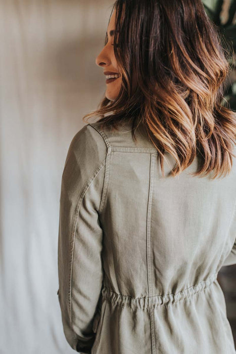 Right Out of the Gate Jacket - Olive