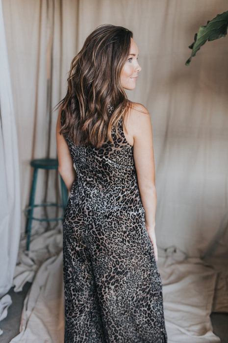 Silver Lining Jumpsuit - Animal Print