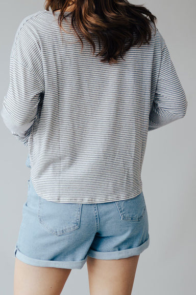 On The Block Stripe Knit Top - Denim