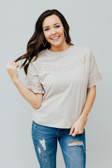 Mind Over Matter Top - Taupe