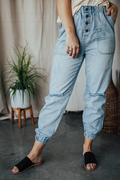 So Fresh So Clean Pant - Washed Denim