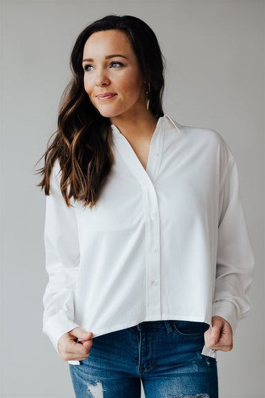I Am Woman Button Up - Off White