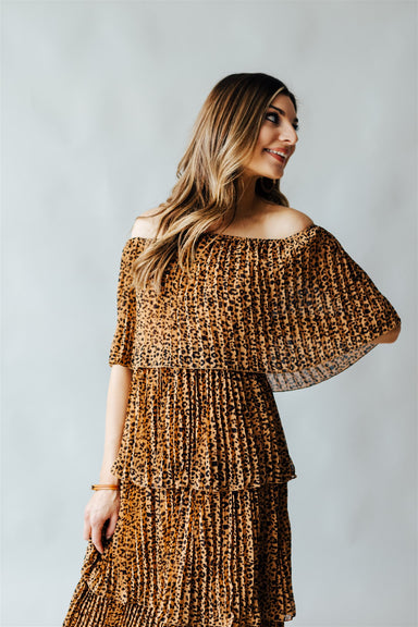 Against All Odds Dress - Leopard