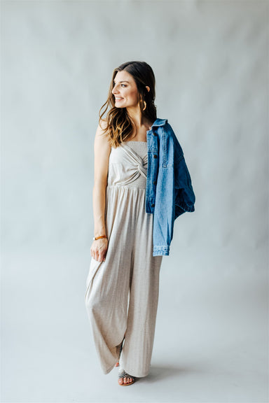Find Your Wave Jumpsuit - Oatmeal